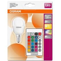 Osram Star+ RGBW 4,5 W/827 25 E14 250 lumen szabályozható matt LED kisgömb izzó