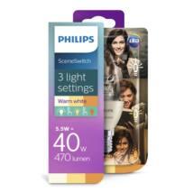 PHILIPS  LED gyertya 5.5-40W E14 827 B38 CL ND Scenekapcsoló
