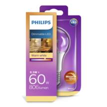 PHILIPS  LED izzó 8.5-60W A60 E27 827 CL WarmGlow