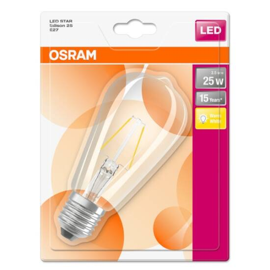 Osram Star Edison Filament 2,8 W/827 25 E27 250 lumen LED izzó
