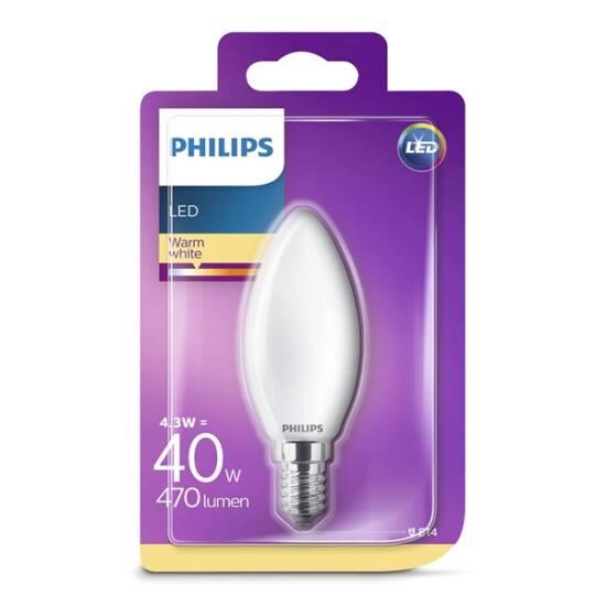 PHILIPS  LED Classic gyertya 4.3-40W B35 E14 827 FR ND RF