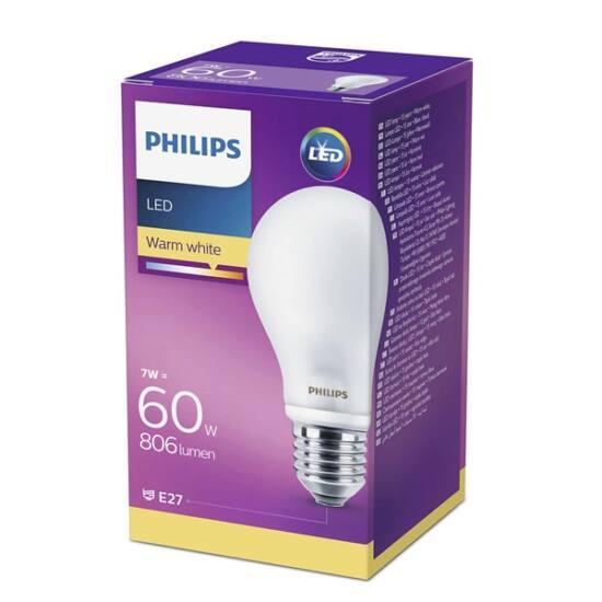 PHILIPS  LED Classic izzó 7-60W A60 E27 827 FR ND