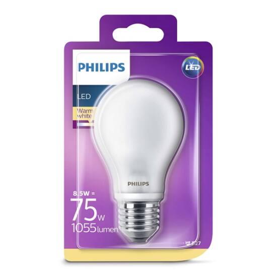 PHILIPS  LED Classic izzó 8.5-75W A60 E27 827 FR ND RF