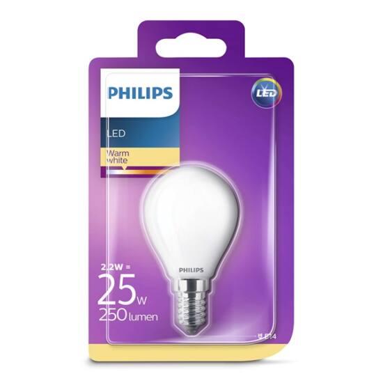 PHILIPS  LED Classic luster izzó 2.2-25W P45 E14 827 FR ND RF
