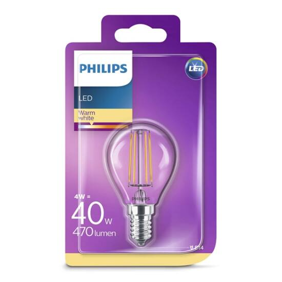PHILIPS  LED Classic luster izzó 4-40W P45 E14 827 CL ND