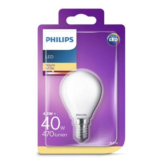 PHILIPS  LED Classic luster izzó 4.3-40W P45 E14 827 FR ND RF