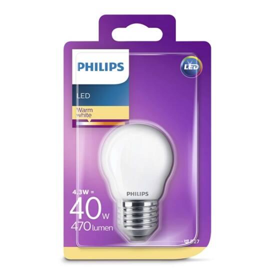 PHILIPS  LED Classic luster izzó 4.3-40W P45 E27 827 FR ND RF