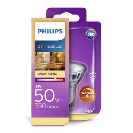 PHILIPS  LED Classic spot 5.5-50W GU10 827 36D WarmGlow