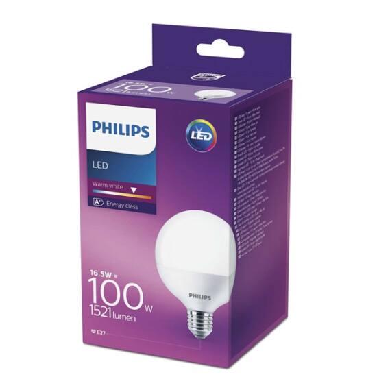 PHILIPS  LED globe 15-100W G93 E27 827 FR ND