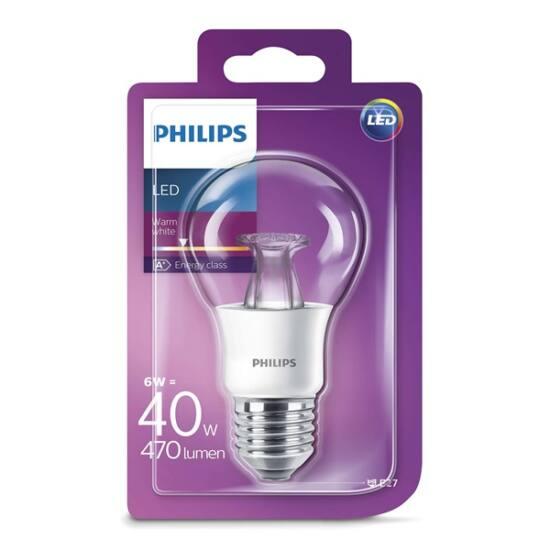 PHILIPS  LED izzó 6-40W A60 E27 827 CL ND