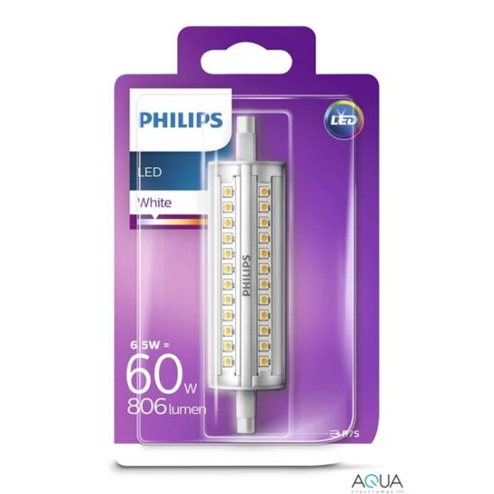 PHILIPS  LED izzó 6.5-60W R7S 830 118mm ND