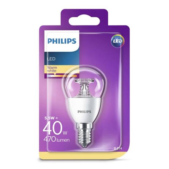 PHILIPS  LED luster 5.5-40W P45 E14 827 CL ND