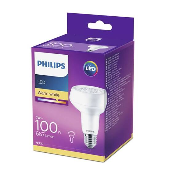 PHILIPS  LED reflektor 7-100W E27 827 230V R80 40D ND