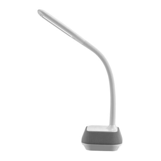 PLATINET Asztali lámpa 12W és Bluetooth hangszóró (5W lámpa + 7W hangszóró) - ezüst