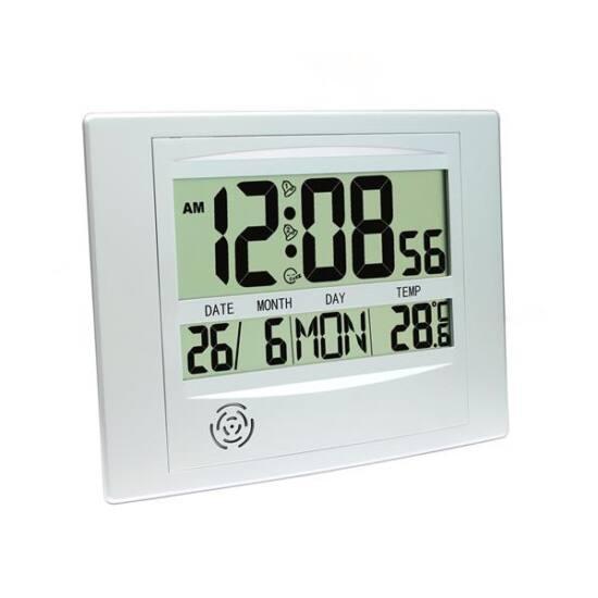 PLATINET Digitális ébresztőóra és Időjárás állomás, beltéri hőmérsékletmérővel